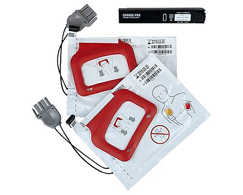 Lifepak CR Plus Charge-Pak™: Battery & 2 sets of Adult Electrode Pads